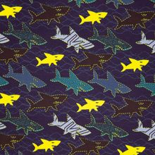 Blauwe Tricot met Haaien