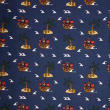 Blauwe Tricot met Piratentekens