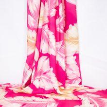 Roze Viscose met Bladeren