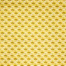 Oker/ Kaki Gele Katoen met Waaiers