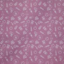 Roze Katoen met Medisch materiaal