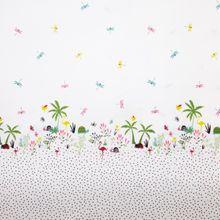 Witte Katoen met Libellen
