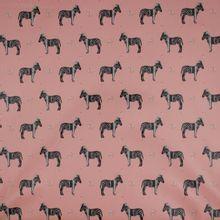 Regenjas stof in roze met zebra's