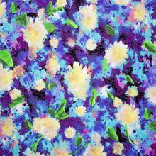 Katoen met Geschilderde Bloemen