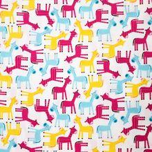 Witte Katoen met Giraffen
