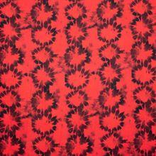 Rode Viscose met Cirkelvormig Patroon