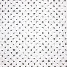 Witte Katoen met Zwarte Hennep Bladeren Bodo