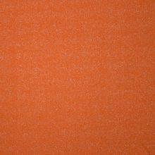 Oranje sweaterstof met zilveren glitter