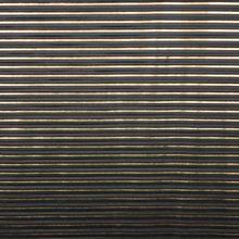 Zwart / goud plissé polyester van 'La Maison Victor'