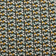 Groene Viscose met Bloemen