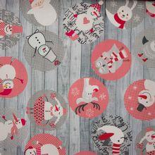 Zachte grijze canvas met kerstmotief