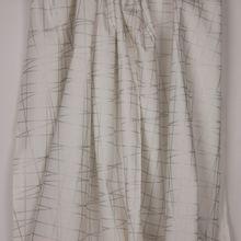 Witte katoen met zilveren glitter strepen