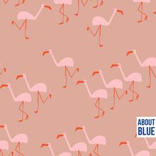 Flamingo's op roze french terry van About Blue