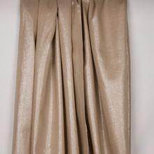Beige viscose linnen mengeling met zilveren glitter
