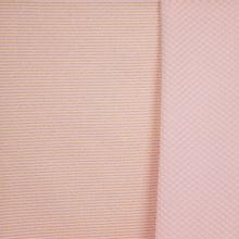 Doorgestikte sweaterstof in roze met gouden glitterstreepjes