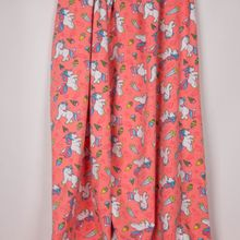 "Zalmroze tricot met eenhoorns en ijsjes ""Glitter Unicorn"" van Poppy"