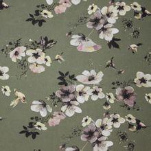 Groene polyester met bloemen van My Image