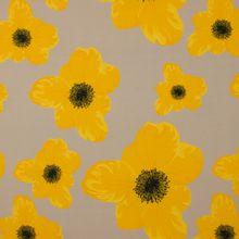 Beige italiaanse crêpe met gele bloemen