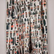 Suedine rekbare polyester scuba met abstracte bedrukking van 'Milliblu's'