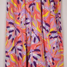 Rekbare polyester met abstracte bloemen van 'Milliblu's'