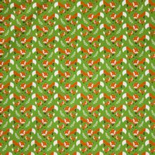 Groene tricot met vosjes 'Theo'