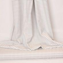 Witte tricot met grijze strepen