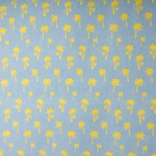 Licht blauwe katoen met palmbomen 'Under The Palm Tree' jolijou