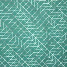 Groene tricot met witte lijntekening