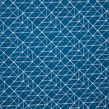 Donkerblauwe tricot met witte lijntekening