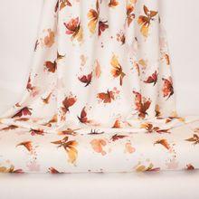 Witte tricot met vlinders in waterverf
