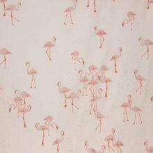 Witte tricot met flamingo's