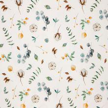 Witte tricot met katoenplanten
