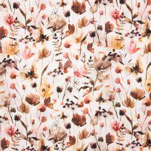 Witte tricot met bloemen