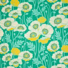 Groene katoen met bloemen