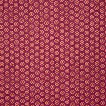 Bordeaux katoen met geometrishce figuurtjes