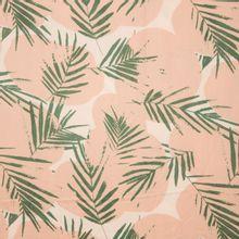 Wit/ roze viscose met groene bladeren canopy cactus