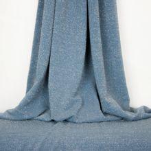 Blauwe metallic jersey met glitters