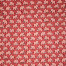 Rode katoen met olifanten, Mammoth van Eva Mouton