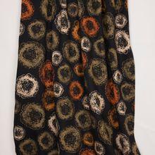 Zwarte viscose tricot met bollen motief van 'My Image'