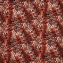 Licht rekbare polyester crepe met bordeaux pantermotief uit 'B- Trendy'