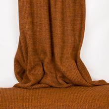 Bruine gebreide stof in katoen / polyestermengeling van 'B- Trendy'
