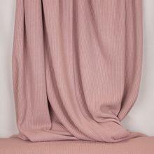 Oudroze gebreide stof in katoen / polyestermengeling