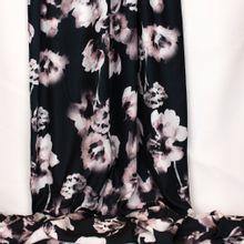 Zwarte polyester met bloemen  van John Kaldor