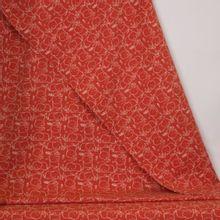 Oranje tricot met witte olifanten