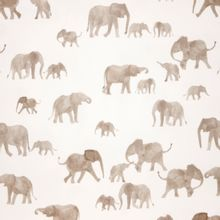French terry wit met waterverf olifanten van Family Fabrics