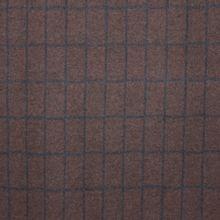 Bruin / blauw geruite katoen / polyestermengeling van La Maison Victor