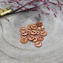 Knoopjes 9 mm 'Glitter Chestnut' van Atelier Brunette