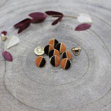 Knoopjes 9 mm 'Wink Black - Chestnut' van Atelier Brunette