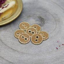 Knoopjes 9 mm 'Glitter Ochre' van Atelier Brunette
