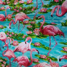 katoen met flamingo's